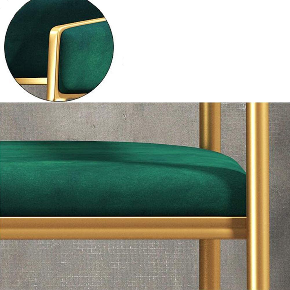DALL Chaise De Salle À Manger Coussin Doux Chaise De Canapé Chaise De Table Armature en Métal Chaise De Maquillage Mode Moderne Chaise De Café Antidérapant (Color : Blue) Green