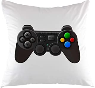 oFloral Gamer Pilowcase,Black Joystick with Buttons Game Controller Gamepad Throw Pillow Cover Square Cushion Case for Sofa Couch Car Bedroom Living Room Home Decorative 18