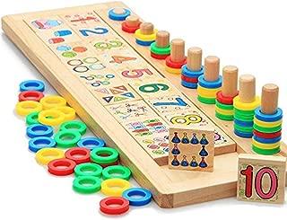 Yeying Mathematik-Spielzeug Tragbare 13 Ziffern Arithmetik 13 Stangen 7 Perlen Chinesische Abakus Soroban Rechenwerkzeug P/ädagogisches Spielzeug Schulbedarf