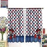 FOCLKEDS Cortina de ventana para habitación de niños, Min-nie Mou-se Mic-Key Min-nie Mouse para dormitorio, sala de estar, ventanas de 214 x 214 cm