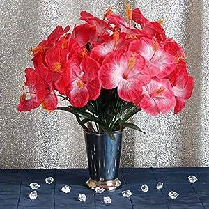 Efavormart 60 pcs Artificial Hibiscus Flowers for Wedding Arrangements Decor – 12 Bushes