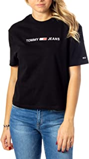 Tommy Hilfiger Women's TJW Linear Logo Detail T-Shirt