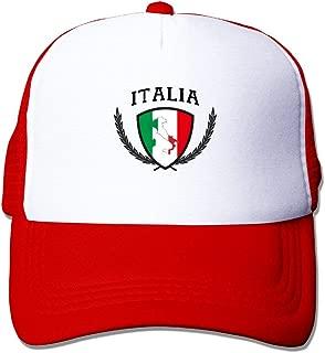 Mesh Baseball Caps Italia Italy Italian Italiano Flag Trucker Hats Grid Adult Adjustable Sunshade Hat