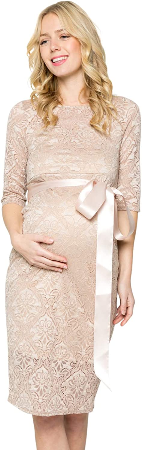 My Bump Women's Premium Quality inspection Lace Baby Knee Shower Mater Party Length Award-winning store