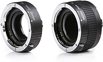 Movo MT-P56 2-Piece AF Chrome Macro Extension Tube Set for Pentax K DSLR Camera with 20mm, 36mm Tubes