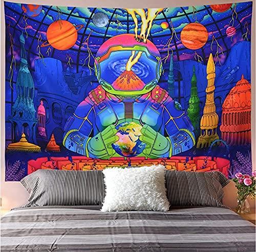 Tapiz de paisaje psicodélico colgante de pared yoga mandala tela de fondo constelación cósmica tapiz A5 130x150cm