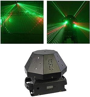 sahadsbv Disco Lights Stage DJ Lampe Flash 8 Trous Disco Projection Lights Sound Activer DMX512 pour Club Bars Karaoké pou...