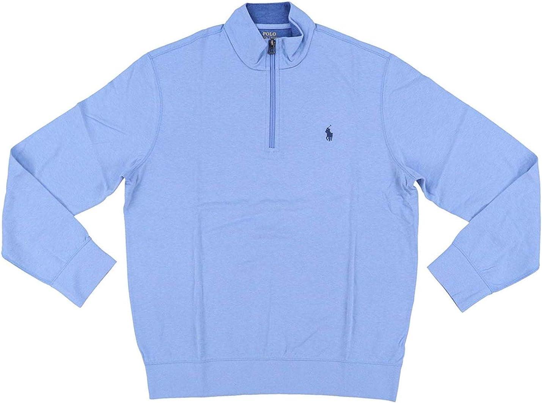 Polo Rl Men's Fleece 1/2 Zip Mock Sweater