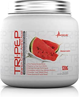Metabolic Nutrition, TRIPEP, 100% Tri-Peptide Branch Chain Amino Acid, BCAA Powder, Pre Intra Post Workout Supplement, Watermelon, 400 Grams (40 Servings)