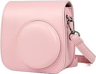 J.west PU Leather Camera Case Bag for Fujifilm Instax Mini 9/ Mini 8+/ Mini 8 Instant Film Camera with Shoulder Strap Accessories (Pink)