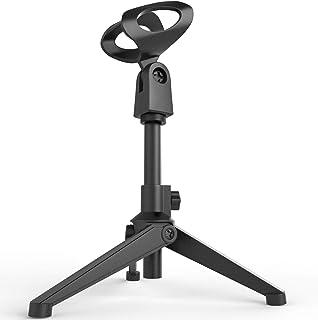 Desktop Tripod Microphone Stand, Portable Mic Table...