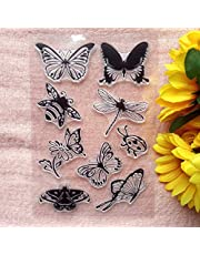 GAWEI Insect Butterfly Bee Dragonfly Clear Stamps for Card Making and DIY Scrapbooking Transparent Stamps Silicone Stamps Photo Album