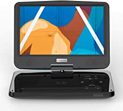 """COOAU 12.5"""" Portable DVD Player with Eye Protection HD Swivel Screen, 5 Hours.."""