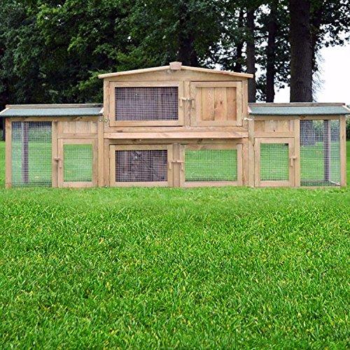 """ZooPrimus Kleintier-Stall Nr 2 XXL Kaninchen-Käfig """"DR. HASE"""" Meerschweinchen-Haus für Außenbereich (Geeignet für Kleintiere: Hasen, Kaninchen, Meerschweinchen usw.)"""