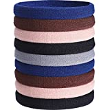 20 Pieces Large Stretch Hair Ties Hair Bands Ponytail Holders Headband for Thick Heavy and Curly Hair (Mixed Colors)