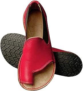 Women's Retro Roman Slides Sandals Comfy Espadrille Slide-on Open Toe Faux Leather Ankle Buckle Summer Flat Sandals