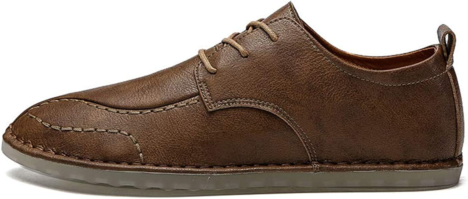 XIANGBAO-Personality Men's Simple Oxfords shoes Lace up Casual Solid color shoes