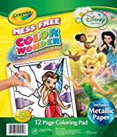 (1 Pack) - Crayola Colour Wonder Colouring Pad-Disney Fairies, 12 Pages