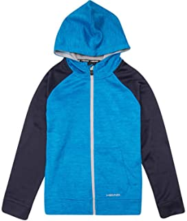 Head Youth Full Zip Fleece Lined Hoodie (Blue Heather, Small 7/8)