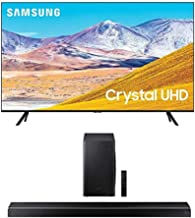 SAMSUNG 55-Inch Class Crystal UHD TU-8000 Series - 4K UHD HDR Smart TV with Alexa Built-in + HW-Q60T 5.1ch Soundbar with 3...