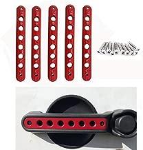 Jeep Door Grab Handle Aluminum Knobs Cover Trim 5pcs/Set Compatible with 2007-2018 Jeep Wrangler JK & Unlimited