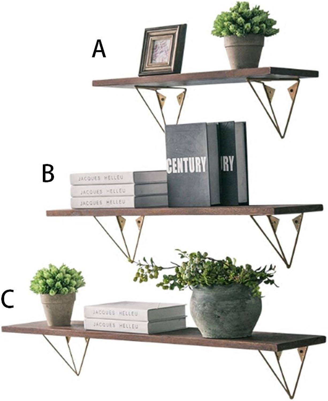 Best Coat Stand- Solid Wood Shelf Creative Wrought Iron Wall Mounted Racks Word Clapboard Nordic Minimalist Modern Wall Shelves -Home Decor (Size   B)
