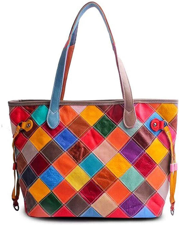 UHUBBG Damen Umhängetasche Handtasche Im Retro-Stil Messenger Bag 34X29X15Cm B07QD13BXD