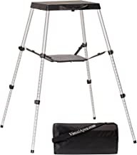 """Visual Apex Portable Projector Table Stand with Shelf & Projector Carry Bag, Adjustable 18.5"""" to 44"""" high"""