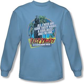 86fb48b2e812 Fast Times at Ridgemont High Spicoli Tasty Waves Adult Long Sleeve T-Shirt  S-