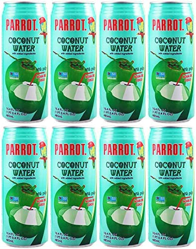 Parrot Coconut Water With Pulp Agua De Coco 16 4 Oz Pack of 8 Total of 131 2 Oz product image