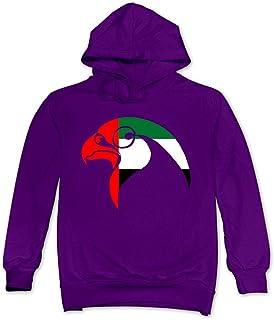ReBorn Men's Casual UAE Peregrine Falcon Pullover Purple