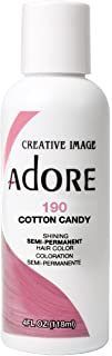 Adore Semi-Permanent Haircolor #190 Cotton Candy 4 Ounce (118ml) (2 Pack)