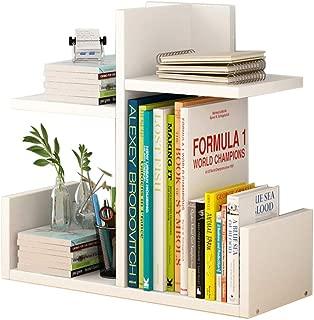 Jcnfa-Shelves Desktop Shelf DIY Desktop Storage Rack Independent Bookshelf Store Books Wooden Bookshelf (Color : White, Size : 401740cm)
