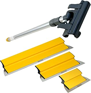 TapeTech Drywall Finishing Tool Smoothing Blade / Wipe Down Knife Triple Combo Set with Handle 10