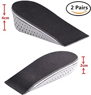 Eyech 2 Pairs Womens Height Increase Shoes Insole Lift Invisible Footinsole Ventilation Air Cushion Heels Taller Shoes Pad Lift Kit
