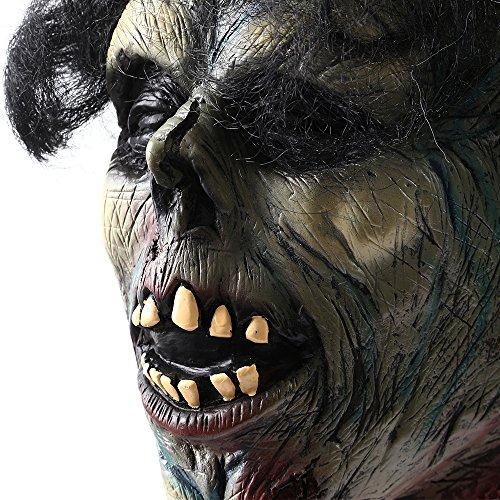 Accesorio para Halloween colgante de hombre muerto, malvado, cabeza de cadáver, terror encantado, animado, cabeza cortada, para interiores y exteriores, accesorios de decoración de Halloween (18101)