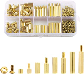 Litorange 240 Pieces M3 Male Female Hex Brass Spacer Standoff Screw Nut Threaded Pillar PCB Motherboard Assortment Kit