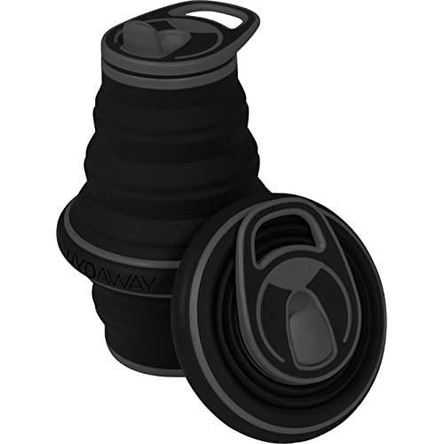 HYDAWAY Collapsible Pocket-Sized Travel Water Bottle - 21 oz - Midnight