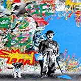 Wall Graffiti Canvas Prints Art Canvas Paintings Posters and Prints Love Life Wall Canvas Picture (No Frame) as picture shows 40x60cm