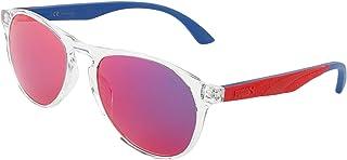 Puma Unisex's PU0143S 004 Sunglasses, 004-Crystal/Pink, 54
