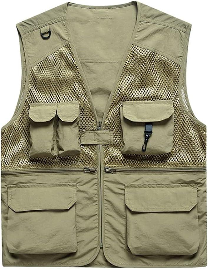 Fishing Vests for Max 63% OFF Men Multi-Pocket Photography Ranking TOP10 Vest
