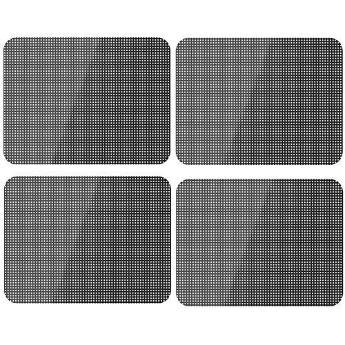 Xinlie Professionele autokleurfolie, autospiegelfolie, zelfklevend, statische zonwering voor auto's, zonwering, folie, zonneklep, auto, zonwering, auto, zonwering, 42 cm × 38 cm, 4 stuks
