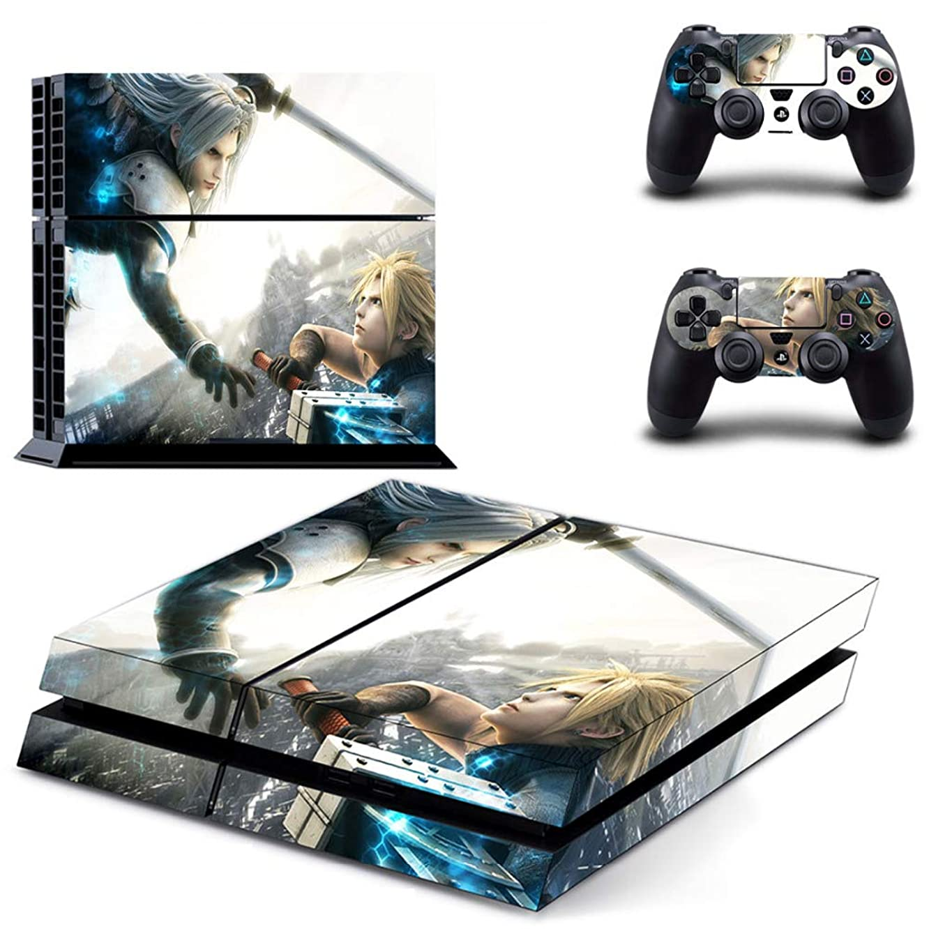Homie Store PS4 Pro Skin - Ps4 Skins - Ps4 Slim Sticker - Game Final Fantasy PS4 Skin Sticker Decal for Sony Playstation 4 Console and 2 Controller Skins PS4 Stickers Vinyl Accessory