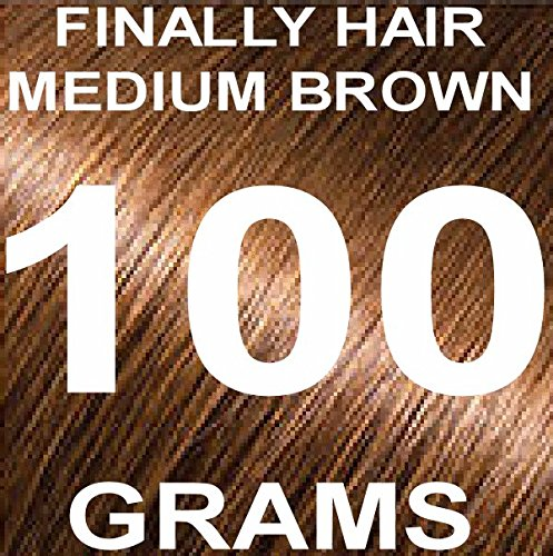 Finally Hair Building Fiber Refill 100 Grams Hair Loss Concealer by Finally Hair (Medium Brown)