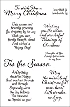 Tis Season Merry Christmas Sentiments Sayings Phrase Rubber Clear Stamp/Seal Scrapbook/Photo Decorative Card Making Clear Stamp