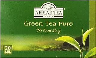 Ahmad Tea Green Tea Pure, 20-Count Boxes (Pack of 6)
