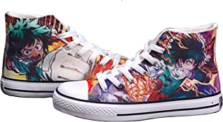 Boku No Hero Academia My Hero Academia Shoes Canvas Sneakers Lace up Casual Shoes Unisex
