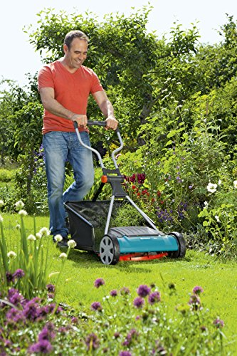 GARDENA Comfort reel mower 400 C: Hand lawn mower with 40 cm working width of up to 250 m² lawn blade roll made of quality steel, non-contact cutting technique (4022-20)