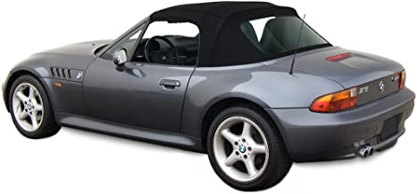 Sierra Auto Tops Convertible Soft Top Replacement, compatible with BMW Z3 1996-2002, w/Plastic Window, Stayfast Canvas, Black