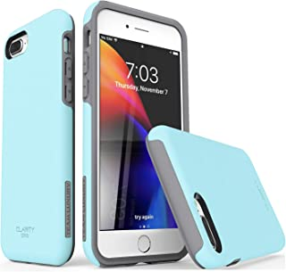 TEAM LUXURY iPhone 7 Plus case/iPhone 8 Plus case, [Clarity Series] Blue [G-III] Ultra Defender TPU + PC Shock Absorbent Protective Case - for Apple iPhone 7 Plus & 8 Plus 5.5
